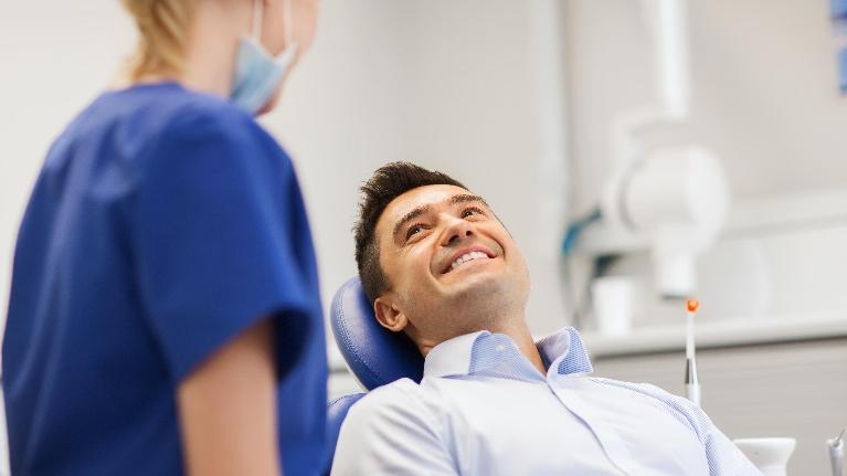 Man in Dental Chair | Seattle WA Dentist
